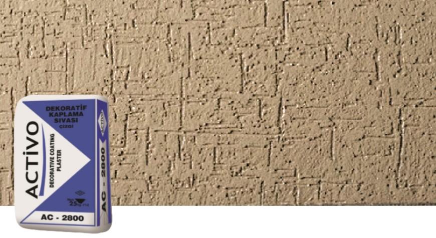 Dekoratif Tekstüre Son Kat Beyaz Sıva (Çizgi Desenli)