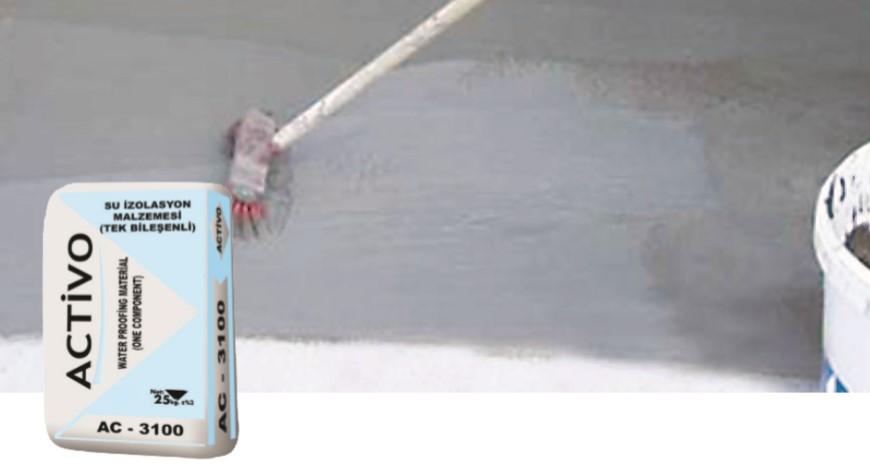 Tek Bileşenli Sürme Esaslı Su İzolasyon Malzemesi AC 3100